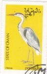 Sellos de Asia - Omán -   ave- Heron