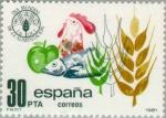 Sellos del Mundo : Europa : España : DIA MUNDIAL DE LA ALIMENTACION