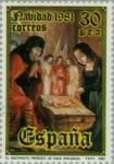 Sellos del Mundo : Europa : España : NAVIDAD - 1981 La Adoración Cervera de Pisuerga (Palencia)