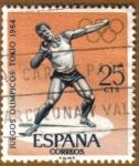 Stamps : Europe : Spain :  JJOO TOKYO 1964 - Lanzamiento de peso