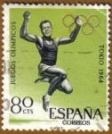 Stamps : Europe : Spain :  JJOO TOKYO 1964 - Salto de longitud