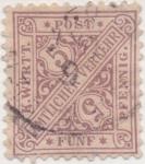 Stamps Europe - Germany -  Wutemberg Y & T Nº 9 Tx