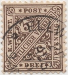 Stamps Germany -  Wutemberg Y & T Nº 16 Tx