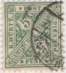 Stamps Germany -  Wutemberg Y & T Nº 17 Tx