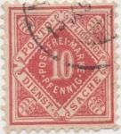 Sellos de Europa - Alemania -  Wutemberg Y & T Nº 41 Tx