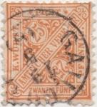 Stamps Europe - Germany -  Wutemberg Y & T Nº 50 Tx