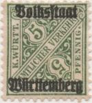 Stamps Europe - Germany -  Wutemberg Y & T Nº 102 Tx