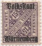 Sellos de Europa - Alemania -  Wutemberg Y & T Nº 105 TX