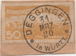 Sellos de Europa - Alemania -  Wutemberg Y & T Nº 124 Tx