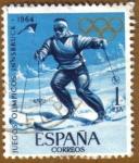 Sellos de Europa - España -  JJOO TOKYO 1964 - Slalon