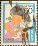 Stamps Japan -  Scott#1678 Intercambio 0,35 usd 60 y. 1986
