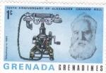 Sellos del Mundo : America : Granada : 100 Aniversario de Alexander Graham Bell