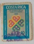 Sellos de America - Costa Rica -  Año MUNDIAL DE LAS COMUNICACIONES