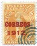 Stamps America - Bolivia -  Timbres Fiscales sobrecargados