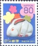 Sellos del Mundo : Asia : Japón : Scott#3273 Intercambio 0,90 usd  80 y. 2010