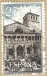 Sellos de Europa - España -  Monasterio de Sta. Maria de la Huerta - Claustro
