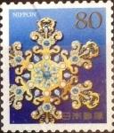Stamps Japan -  Scott#3617c Intercambio 1,25 usd  80 y. 2013