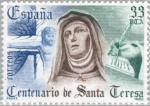 Stamps Europe - Spain -  CENTENARIO DE SANTA TERESA