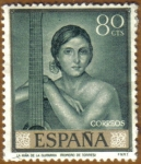 Stamps Spain -  ROMERO DE TORRES - La niña de la Guitarra