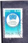 Sellos de Europa - Italia -  BANDERA EUROPA