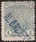 Sellos de Europa - España -  Telégrafos. Escudo de España  1901  1 pta
