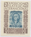 Sellos de America - México -  Exposicion Filatelica Internacional