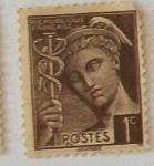 Stamps France -  MERCURIO