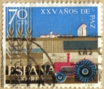 Sellos de Europa - España -  XXV Años de Paz - Agricultura