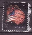 Stamps United States -  barras y estrellas