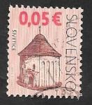 Sellos del Mundo : Europa : Eslovaquia : 523 - Iglesia romana de Santa Margarita, en Sivetice