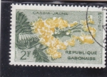 Stamps : Africa : Gabon :  Flores-