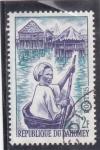 Sellos del Mundo : Africa : Benin : Poblado flotante