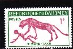 Stamps : Africa : Benin :  Pintura rupestre