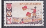 Stamps : Africa : Benin :  Señales con banderas