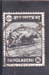 Stamps : Asia : Bangladesh :  Campesino arando