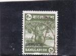 Sellos del Mundo : Asia : Bangladesh : Arbol frutal -Service