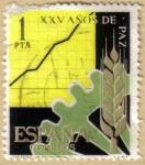 Stamps Spain -  XXV Años de Paz - Desarrollo Economico