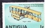 Sellos del Mundo : America : Antigua_y_Barbuda : aeroplano 75 aniversario