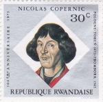 Sellos del Mundo : Africa : Rwanda : Nicolás Copernic- 500 Aniversario