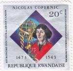 Sellos del Mundo : Africa : Rwanda : Nicolás Copernic- Astronomo