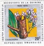 Sellos del Mundo : Africa : Rwanda : 150 Aniversario descubrimiento de la quinina