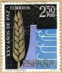 Sellos de Europa - España -  XXV Años de Paz - Obras Hidraulicas