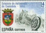 Stamps Spain -  ESTATUTO DE AUTONOMÍA CANTABRIA