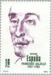 Stamps Spain -  PERSONAJES FAMOSOS FRANCISCO SALZILLO (1707-1783)