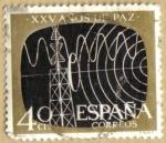Stamps Spain -  XXV Años de Paz - Telecomunicaciones