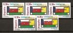 Sellos de Europa - España -  Ciencia./ Ficha con cinco sellos.