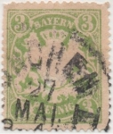 Stamps Germany -  Baviera Y & T Nº 38