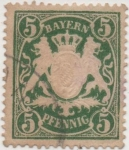 Stamps Germany -  Baviera Y & T Nº 39 [1]