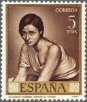 Sellos del Mundo : Europa : España : ESPAÑA 1965 1665 Sello Nuevo Julio Romero de Torres Chiquita Piconera