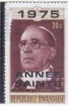 Sellos de Africa - Rwanda -  Papa Pio XII